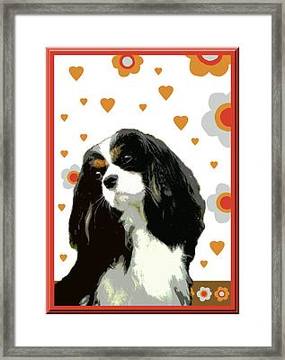 Cavalier King Charles Spaniel Framed Print by One Rude Dawg Orcutt