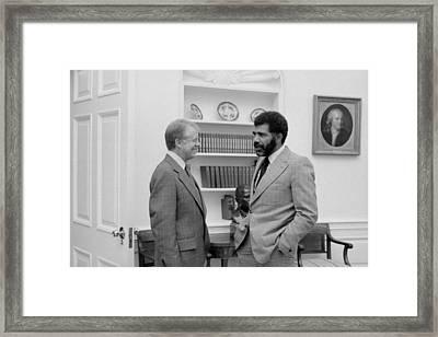 Cbs Reporter Ed Bradley 1941-2006 Framed Print by Everett