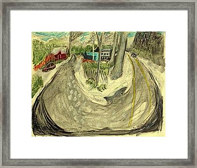 Cedar Valley And Browns Road Framed Print by Don Schaeffer