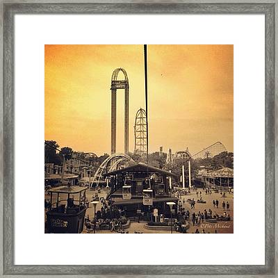 #cedarpoint #ohio #ohiogram #amazing Framed Print by Pete Michaud