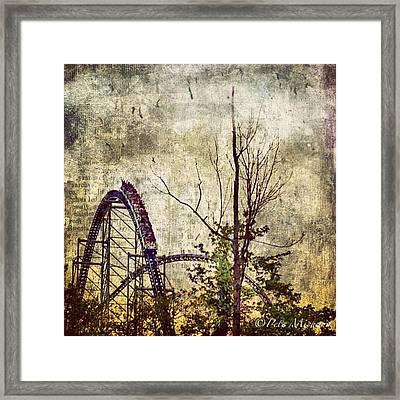 #cedarpoint #rollercoaster #ohio Framed Print by Pete Michaud