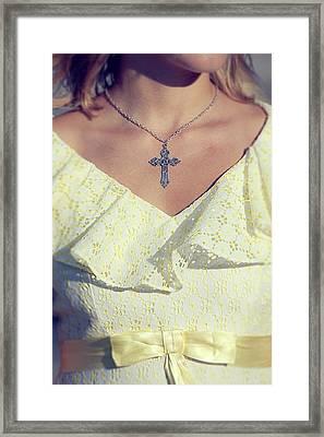 Celctic Cross Framed Print by Joana Kruse
