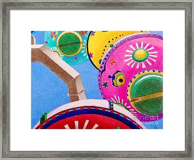 Celestial Ferris Wheel Framed Print by Glenda Zuckerman
