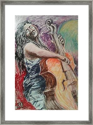 Cellist Framed Print by Joemar Sanchez