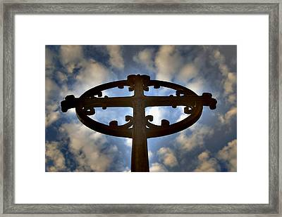 Celtic Cross Framed Print by Phil Bongiorno
