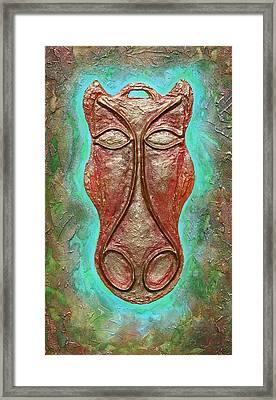 Celtic Horse Head Mask Framed Print by Zoran Peshich