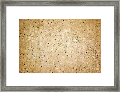 Cement Wall Framed Print by Carlos Caetano