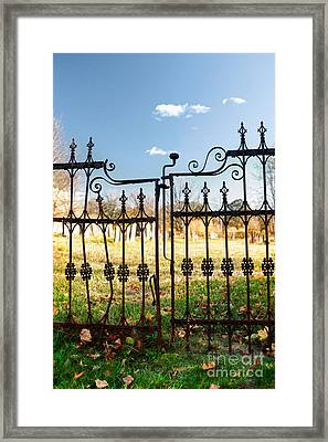 Cemetery Gates Framed Print by HD Connelly