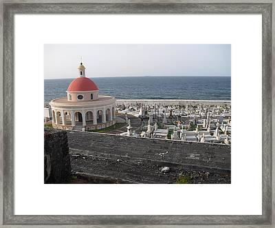 Cemetery  Framed Print by Melissa Torres