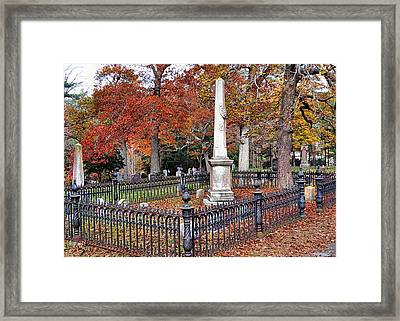 Cemetery Scenery Framed Print by Janice Drew