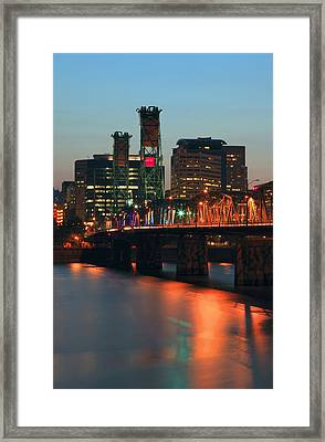 Centennial Birthday Of The Hawthorne Bridge.  Framed Print by Gino Rigucci