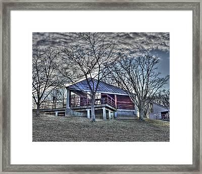 Centennial Lake Pavilion Framed Print by Stephen Younts