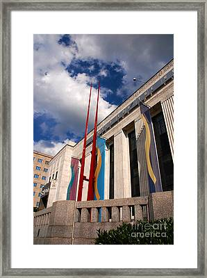 Center For Visual Art Nashville Framed Print by Susanne Van Hulst