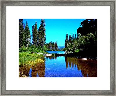 Central Oregon Tranquility  Framed Print by Nick Kloepping
