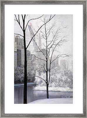 Central Park Vertical Framed Print by Diane Romanello