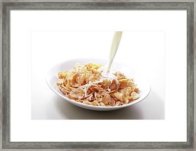 Cereal Food Framed Print by Yuji Kotani