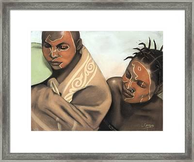 Ceremonial Makeup No 2 Framed Print by L Cooper