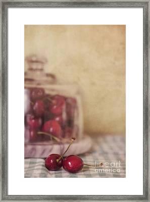 Cerise Framed Print by Priska Wettstein