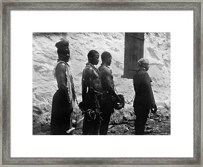 Chain Gang Of Convicts In Monrovia Framed Print by Everett