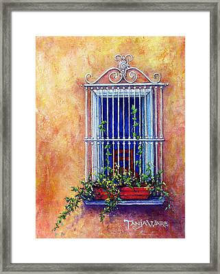 Chair In The Window Framed Print by Tanja Ware