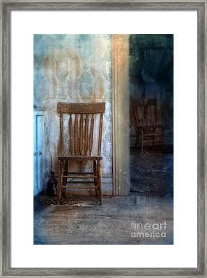 Chairs In Rundown House Framed Print by Jill Battaglia