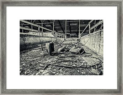 Chairs Undone Framed Print by CJ Schmit