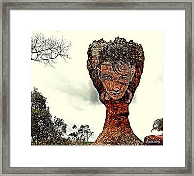 Chalice Symbolically Eroded By The Wind Of The Thoughtlessnes Framed Print by Paulo Zerbato