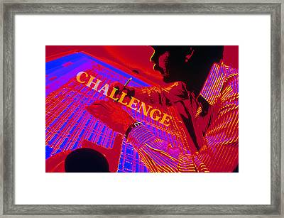 Challenge Framed Print by Jerry McElroy