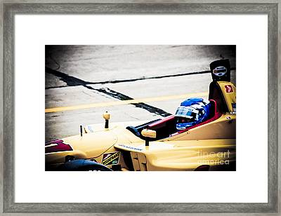 Champ Car Driver Framed Print by Darcy Michaelchuk