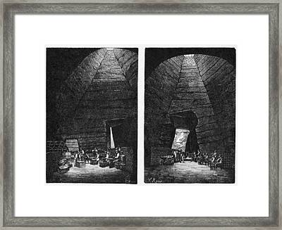 Champagne Production, 19th Century Framed Print by Cci Archives