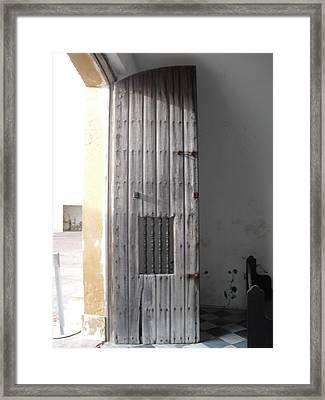 Chapel Door Framed Print by Melissa Torres