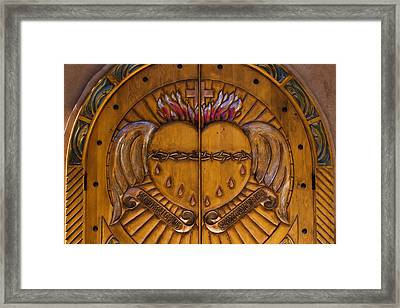 Chapel Doors Framed Print by Carol Leigh