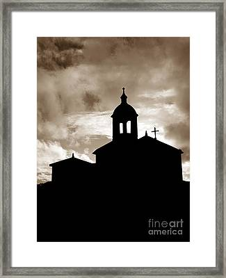 Chapel Silhouette Framed Print by Gaspar Avila