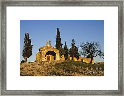 Chapelle D'eygalieres En Provence. Framed Print by Bernard Jaubert
