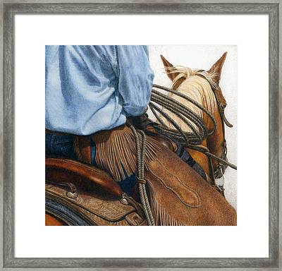 Chaps Framed Print by Pat Erickson