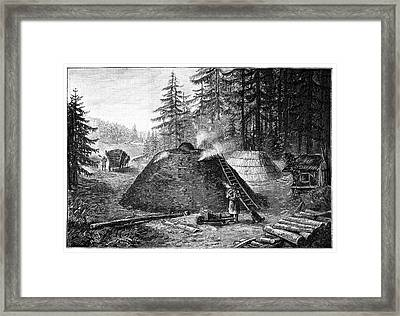 Charcoal Production, 19th Century Framed Print by