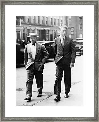 Charles A. Lindbergh And New Jersey Framed Print by Everett