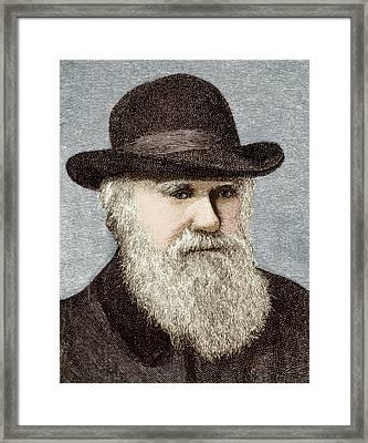 Charles Darwin, British Naturalist Framed Print by Sheila Terry