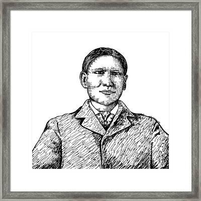 Charles Eastman Framed Print by Karl Addison