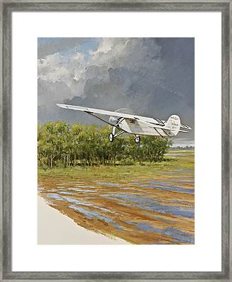 Charles Lindbergh Taking Off Framed Print by Cliff Spohn