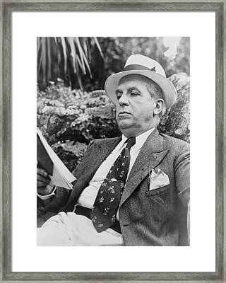 Charles Ponzi 1882�1949, Namesake Framed Print by Everett