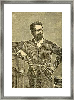 Charles Quantrill Led Confederate Framed Print by Everett