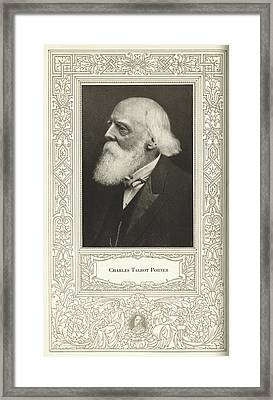 Charles Talbot Porter, Us Engineer Framed Print by Science, Industry & Business Librarynew York Public Library