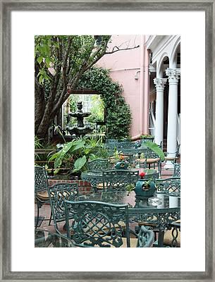 Charleston Dining Framed Print by Suzanne Gaff