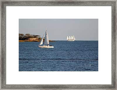 Charleston Harbor Scenic Framed Print by Suzanne Gaff