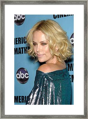 Charlize Theron In Attendance For 24th Framed Print by Everett