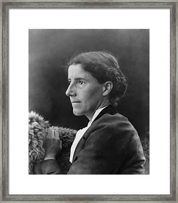 Charlote Perkins Gilman 1860-1935 Framed Print by Everett