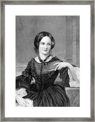 Charlotte Bronte 1816-1855, British Framed Print by Everett