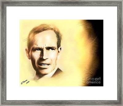 Charlton Heston Framed Print by Arne Hansen