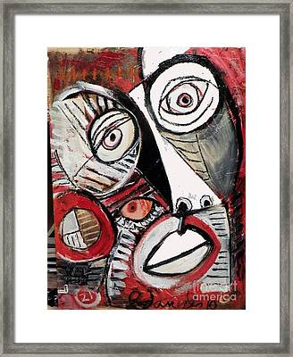 Chasing Picasso Framed Print by Robert Daniels